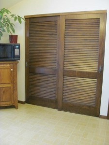 Louvered Pantry Door