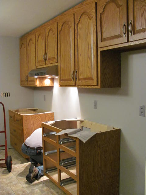 Installing the cabinets