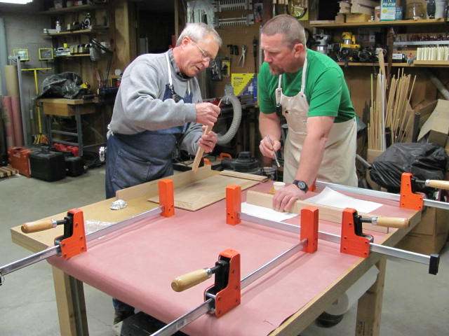Gluing a raised panel door