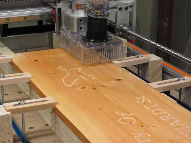 V-Carving Bench Back